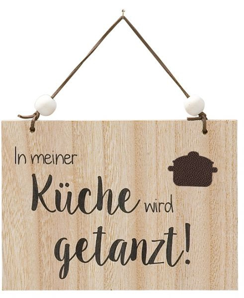 dekoschild aus mdf mit aufschrift in meiner k che wird. Black Bedroom Furniture Sets. Home Design Ideas