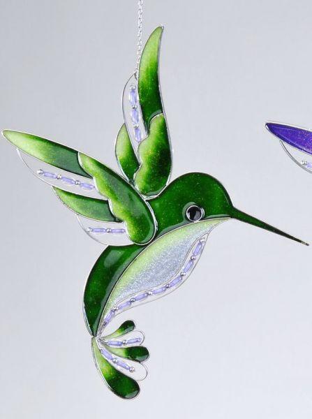 Fensterschmuck eisvogel gr n fenster deko aus tiffany for Deko aus glas